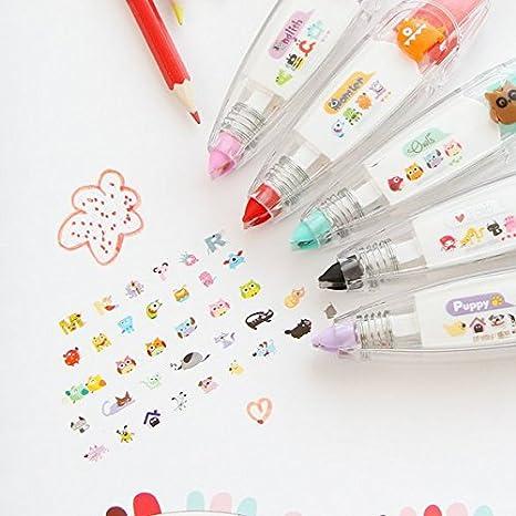 2Pcs Creative lace Decoration Correction Tape Pen Cute Cartoon Push Tape Sticker Machines Kawaii Stationery DIY Scrapbooking Decor 3Pcs-A