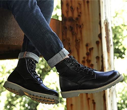 FMWLST stivali Stivali Invernali da Uomo Classici di Alta Alta Alta qualità, Stivali da Neve in PU da Uomo, Stivali Militari Esterni, Stivali da Combattimento, Scarpe Invernali, 46 e94388