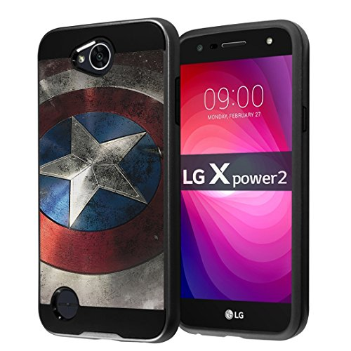 new concept 02027 76b38 For LG X Power 2 Case, LG Fiesta LTE Case, LG X Charge Case, LG K10 Power  Case, LG LV7 Case, Capsule-Case Hybrid Fusion Dual Layer Slick Armor Case  ...