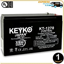 Verizon FiOS PX12072-HG 12v 7ah Battery - Fresh & REAL 7.2 Amp - AGM / SLA Sealed Lead Acid Rechargeable Genuine KEYKO Replacement -F1 Terminal W/F1 to F2 Adapter