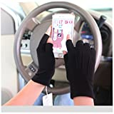Unique Design New Style Driving Glove Texting Sun Protection for Men and Women (Large, Black)
