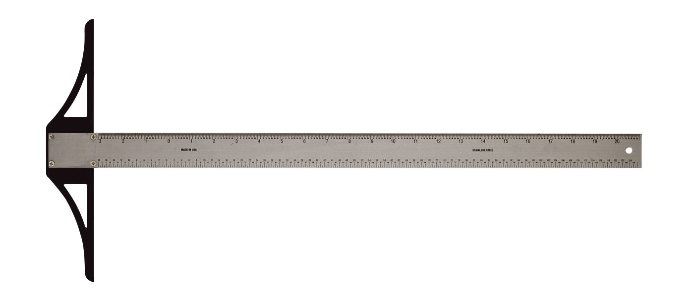 Alvin SST Series 30-Inch Stainless Steel Professional Graduated T-Square - SST30