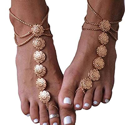 Wholesale Susenstone Fashion Women Bohemia Beach Barefoot Foot Jewelry Anklet for sale