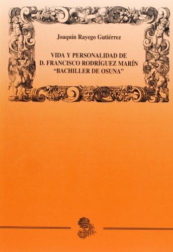 Descargar Libro Vida Y Personalidad De D. Francisco Rodríguez Marín