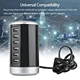 EEEKit USB Stability Charger 6-Port Desktop USB Hub Charging Station Desktop Travel Power Adapter with Smart Identification Technology for Apple iOS, Android & Virtually All Other USB Enabled Devices