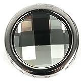 Pavo Real Diam 18mm Circle black diamond polished