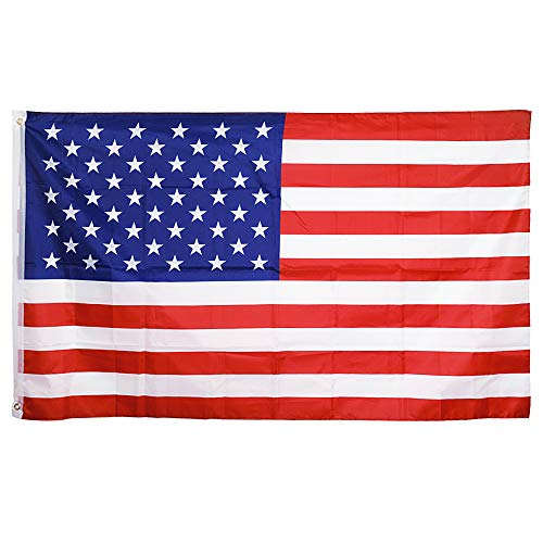 (Tcamp 3'x5' FT USA American Flag US United States Stars Stripes - Brass Grommets, Indoor/Outdoor, Vibrant Colors, Quality Polyester, US USA Flag)
