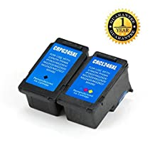 SaveOnMany ® Value (2) Pack Canon PG-245XL & CL-246XL High Yield Compatible Remanufactured Ink Cartridge BK/C/M/Y (Black Cyan Magenta Yellow) Combo Set CL-246-XL CL246XL CL246-XL (8280B001AA) / PG-245-XL PG245XL PG245-XL (8278B001AA) For PIXMA MG2400 Series, MG2420, MG2520, MG2900 Series, MG2920, MG2922, MG2924, MX492, iP2820