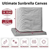 "SugarHouse Outdoor Air Conditioner Cover - Ultimate Sunbrella Canvas - Made in The USA - 20-Year Warranty - 36"" x 36"" x 38"" - Black"