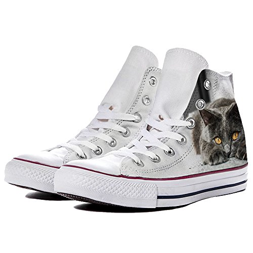 Sneaker Scarpe Converse Personalizzate Grey Cat by YourStyle