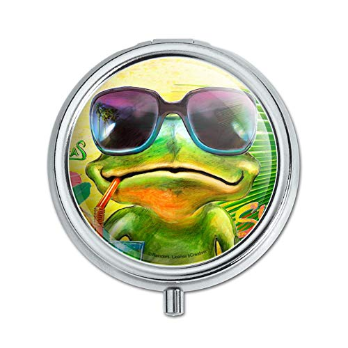 Summertime Vacation Frog Pill Case Trinket Gift ()