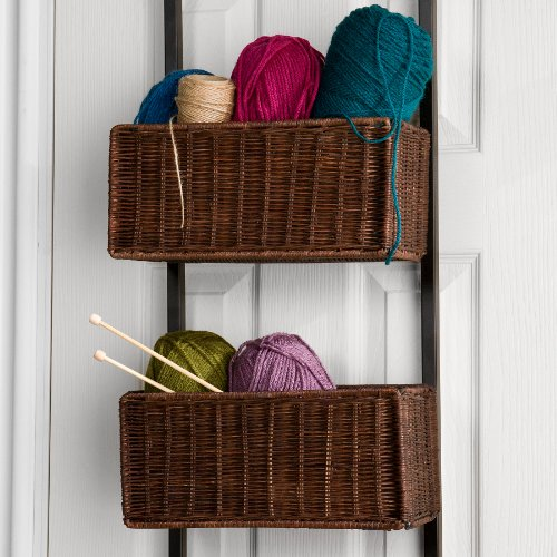 Southern Enterprises Over-The Door 3-Tier Basket Storage