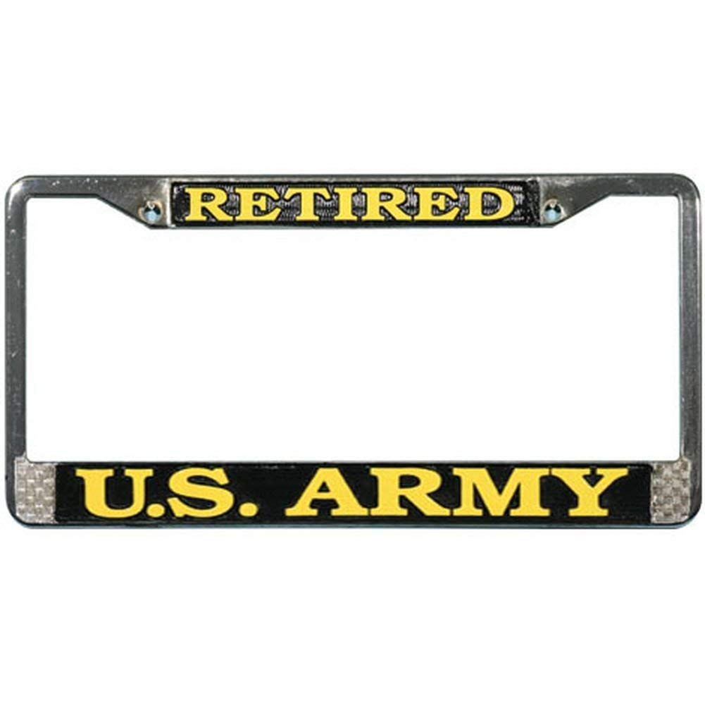 Mitchell Proffitt US Army Retired License Plate Frame Bundle with US Army Retired Decal Sticker//Decal