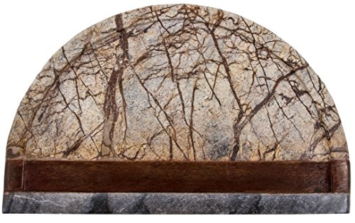 Thirstystone Forest Marble and Sheesham Wood Serving Board, Brown