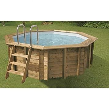 Ubbink Sunwater Wood Pool Diameter 0 20 X 1 20 M Amazon Co Uk