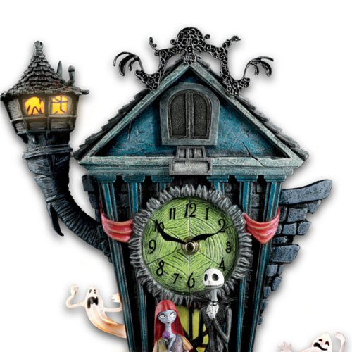 Amazon Com Cuckoo Clock Tim Burton S The Nightmare Before Christmas Wall Clock By The Bradford Exchange Home Kitchen