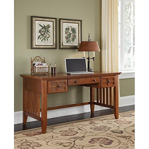 Home Styles  Arts and Crafts Executive Desk, Cottage Oak Finish