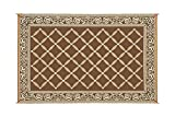 Outdoor Patio Rugs Reversible Mat Brown & Beige Patio Mat Item No:119127 (9' x 12')