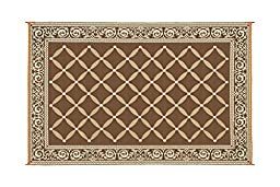 Reversible Mat Brown & Beige Patio Mat Item No:119127 (9\' x 12\')