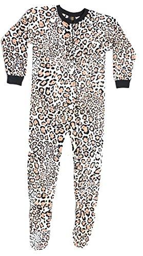 95599-5-4 Just Love Footed Pajamas / Micro Fleece Blanket Sleepers,Leopard,Girls 4
