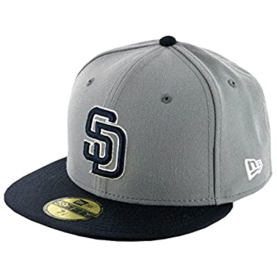 New Era 5950 San Diego Padres Fitted Hat (Storm Grey/Navy/White-NV) Mens MLB Cap
