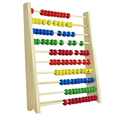 Les yeu 123 Learning Abacus Toy,Abacus Classic Wooden Toy,Math Numbers Counting Beads Learning Abacus Toy Best for 3, 4, and 5 Year Olds: Toys & Games [5Bkhe0804633]