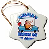 orn 118540 1 Dooni Designs More Random Cartoon Designs - Crazy Golf Cart