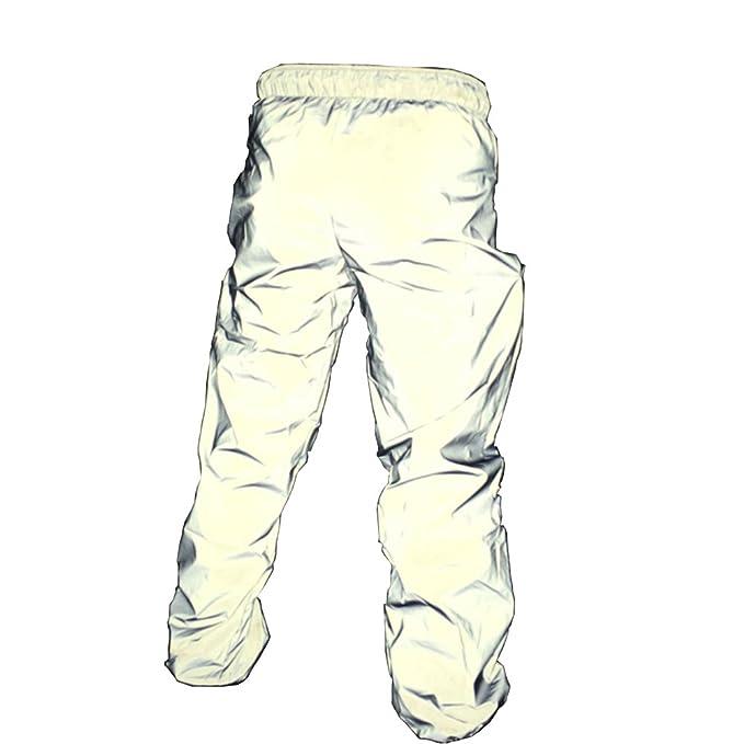 prezzo minimo prodotto caldo nuovi prodotti caldi Reflective Pants Men Brand Hip Hop Dance Fluorescent Trousers Casual  Harajuku Night Sporting Jogger Pants Gray