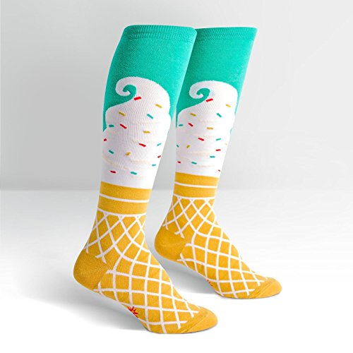 Socks Cream Cone Ice - Sock It To Me, Knee High Funky: Ice Cream Dream