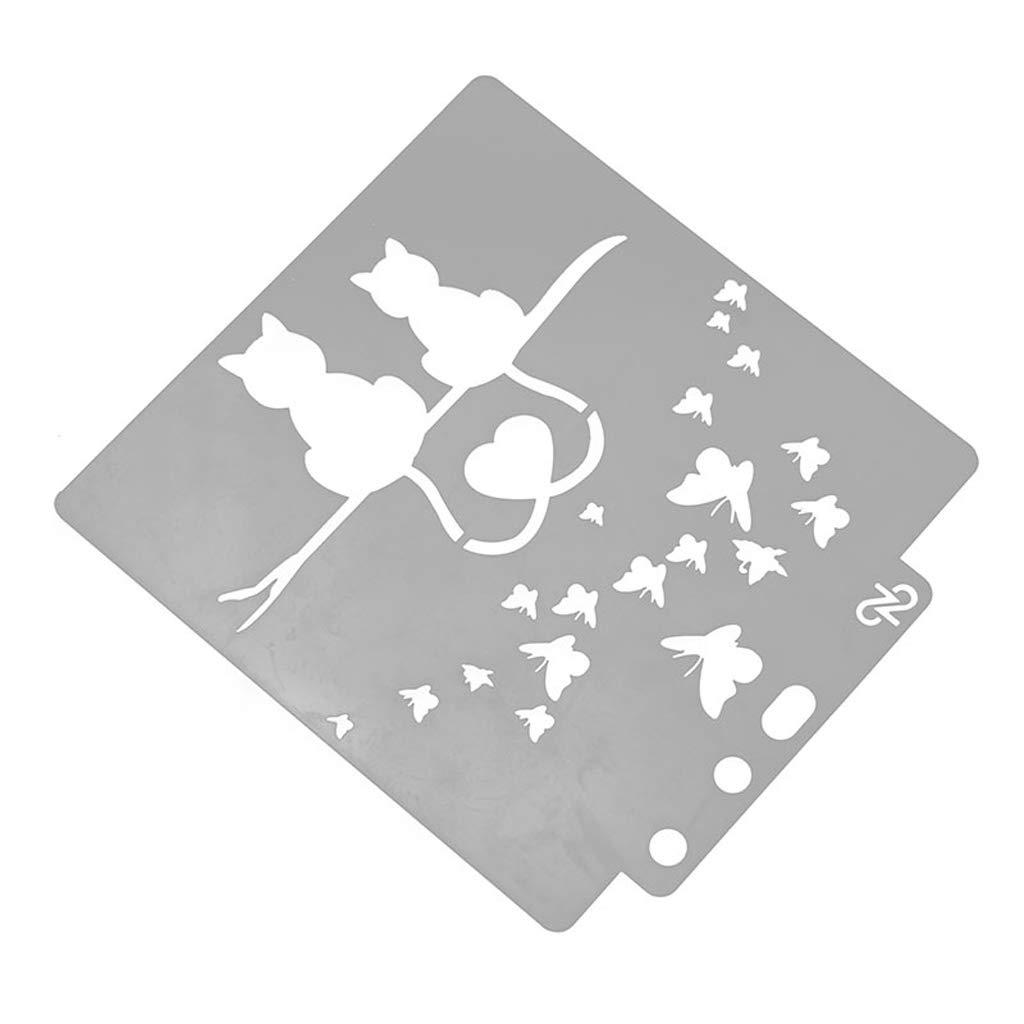 Love Cat stencil modello pittura album per goffratura timbro scrapbooking zchddp