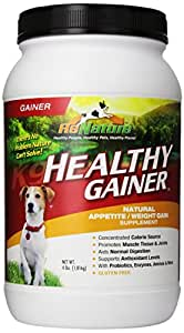 Animal Naturals K9 'Healthy Gainer' Natural Appetite/Weight Gain Supplement, 4-Pound