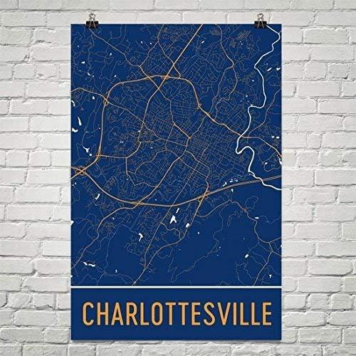 Charlottesville Virginia United States Vintage Travel Advertisement Art Poster