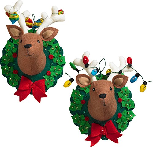 Bucilla 86744 Jingle & Belle Wallhanging Kit from Bucilla