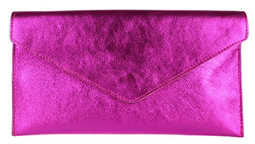 Violetta Clutch Womens Girly HandBags Fuchsia EYw6q4xTq