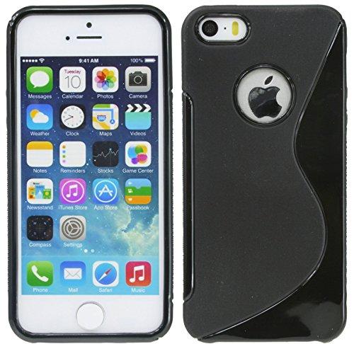 S-Line TPU SchutzHülle für Iphone 5 / 5S / SE Silikon Hülle in Schwarz @ Energmix