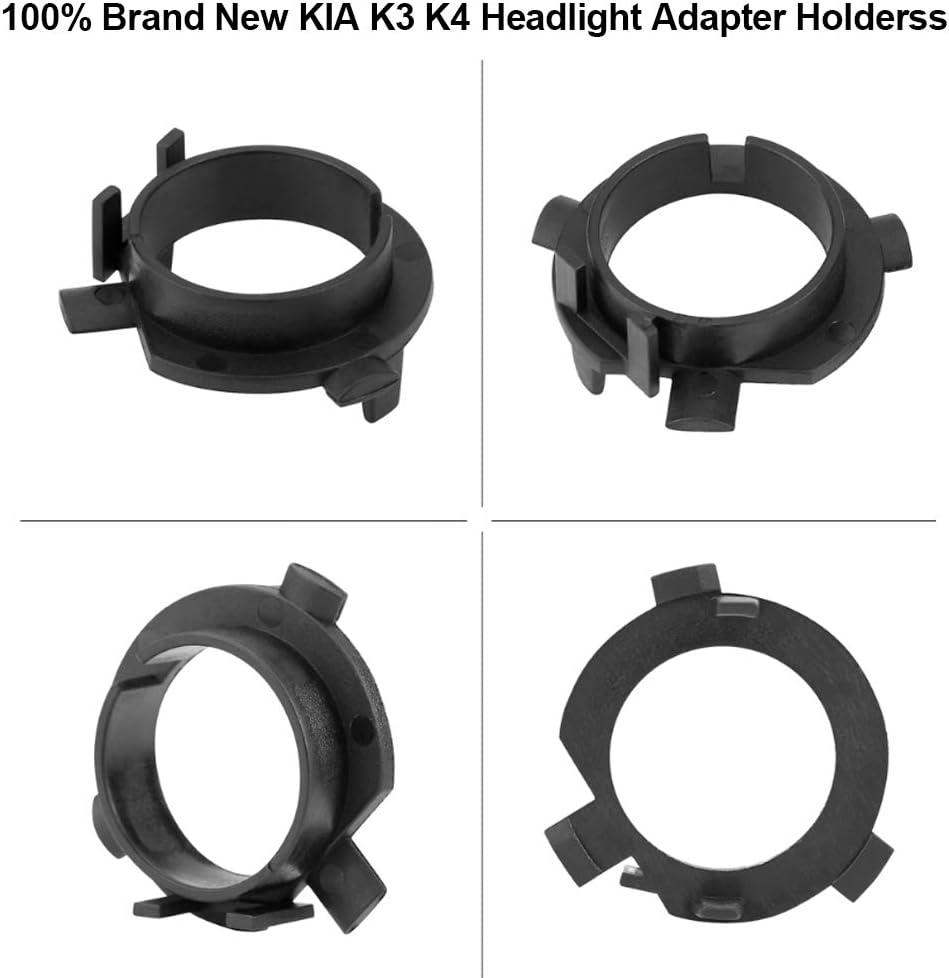 Headlights Bulb Base Holder Adapters H7 Retainer Sockets for KIA K4 K5 Sorento Hyundai Veloster Santa Fe Keenso 1 Pair H7 LED Headlight Bulbs Adapters Holder Retainers