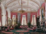 Oil Painting 'Hau Edward Petrovich,Interiors Of The Winter Palace,The Raspberry Study Of Empress Maria Alex,1807-1887' 8 x 11 inch / 20 x 27 cm , on High Definition HD canvas prints, Basement, decor