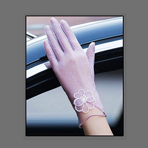 Coio 女性手袋 レディースUVカット レース 薄手日焼け防止 紫外線カット ブライダル手袋(スタイル1))