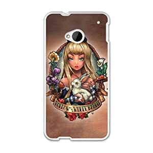 The best gift for Halloween and Christmas HTC One M7 Cell Phone Case White Alice follow the white rabbit WYW8615943