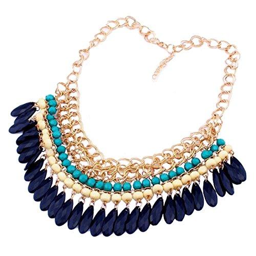 Eyourlife Vintage Ellipse Pendant Necklace