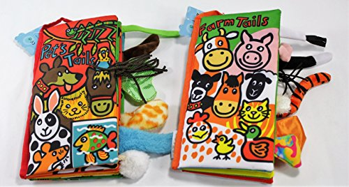 Animals Stereoscopic Tails Cloth Book Baby Early Learning Education Books Toys (Pet & Farm (Farm Tails Book)