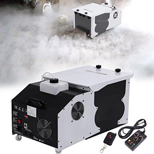 [PanelTech 1500W Ground Smoke Fog Machine Dry Ice Effect Stage W/ Remote & Dmx Control] (The Fog Machine)