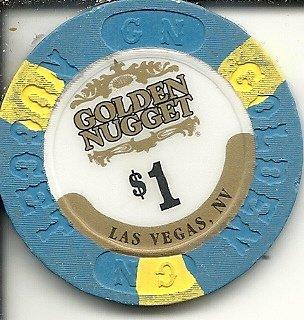 Golden Nugget Casino Chips ($1 golden nugget obsolete las vegas casino chip)