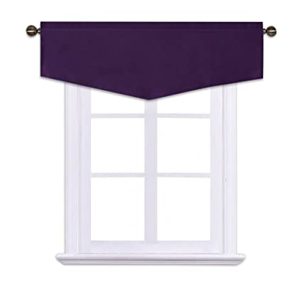 NICETOWN Blackout Valance Short Curtain Tier