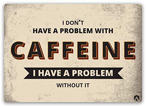 カフェインの問題 金属板ブリキ看板警告サイン注意サイン表示パネル情報サイン金属安全サイン
