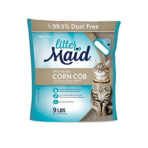 LitterMaid Premium Clumping Corn Cob Litter, (Corn Cob Cat Litter)