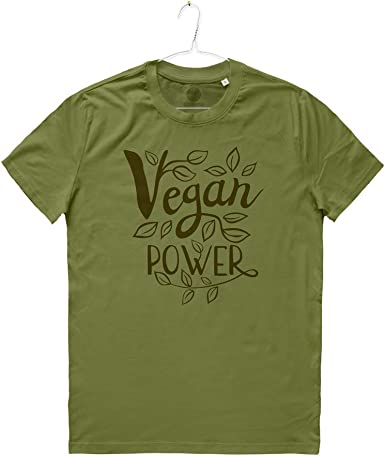 MIVESTONATURALE - Camiseta para Hombre Vegan Power Veganesimo ...