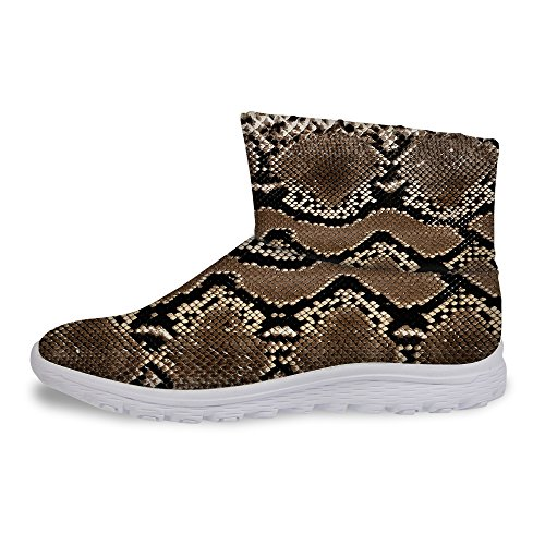 Skin Snake U Warm Snow FOR DESIGNS Cold Winter Cool Brown Boots Women's Print Weather dIZqTx