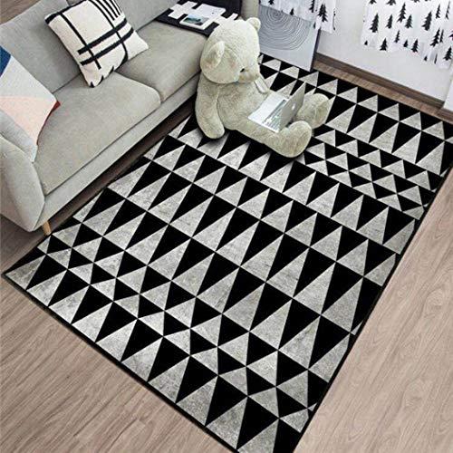 Kievil Thicken Rug 3D Nordic Style Simple Printed Carpet Big Size Home Mat Modern Parlor Carpet ()
