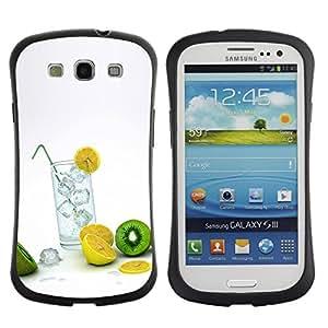 Paccase / Suave TPU GEL Caso Carcasa de Protección Funda para - Fruit Macro Lemon Kiwi - Samsung Galaxy S3 I9300